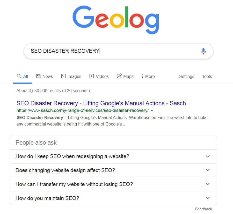 SEO Disaster Recovery Services by Armament Solutions Limited